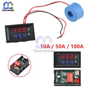 10A 50A 100A LCD Digital Ammeter Voltmeter Amp Volt Meter w/ Current Transformer