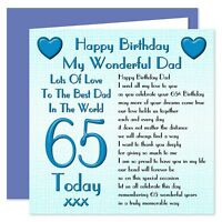 My Wonderful Dad Lots Of Love Happy Birthday Card - Age Range 30 - 100 Years