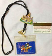 Disney Ticket 50th Anniversary Lanyard Castle Pin 2006 Disneyland
