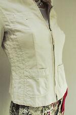 MARCCAIN Damen Jacke N2 N3 36 S Baumwollmischung heller Vanilleton