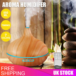 Ultrasonic Essential Oil Aroma Diffuser Air Purifier Mist Humidifier 7 LED Light