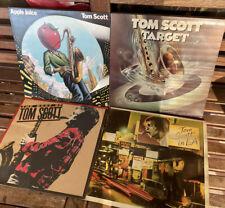 New listing TOM SCOTT vintage vinyl record albums LOT of 4