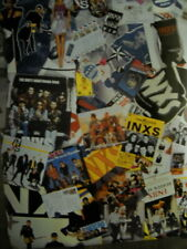 INXS rare two-sided COLLAGE and STAR style Large PROMO POSTER from 1997