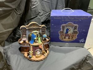 Disney Store Snow globe Beauty & The Beast There's Something There RARE W/ Box