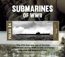 Palau 2015 - Submarines of World War One stamps - Souvenir Sheet MNH