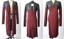 JEAN PAUL GAULTIER NEW Women's Coat Leather Trim rrp $4100.00 Size 42 AU 10 US 8
