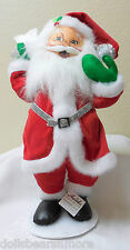 "NWT 2013 Annalee Christmas 15"" ""SILVER SPARKLE SANTA"" Poseable Figurine #401513"