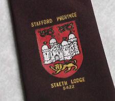 Stafford PROVINCIA FREEMASONRY massonica Masons Tie Vintage staeth Lodge 5422 anni'70