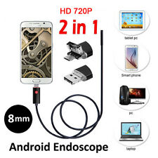 2.0MP 6LED 2in1 Micro USB Android Inspection Endoscope Waterproof Camera HD 5M