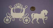 2 Horse & Carriage PAPER Die Cuts / Scrapbook & Card Making