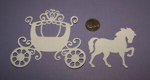 2 Horse & Carriage PAPER Die Cuts / Scrapbook & Card Making