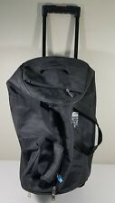 "North Face Bag Black Rolling Wheeled Duffel Luggage Black 20"" x 14"" x 11"""