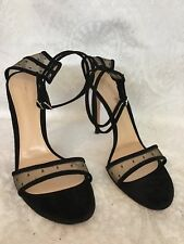 64c3898ef89 Gianvito Rossi Shoe Black With Netting Two Buckle Ankle Straps Size 40 New