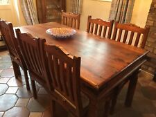 SOLID WOOD JALI Sheesham THAKAT DINING TABLE and 6 CHAIRS