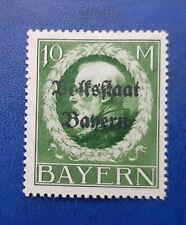 Germany Stamps Bavaria Bayern 10 Mark 1919 Mi. Nr. 132 (16670)
