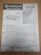 Hitachi Service Manual~HTA-55F Tuner Amplifier~Original Repair Manual