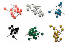 Stecknadeln, Nadeln, Makiernadeln - 50 Stück, farblich sortiert