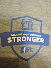 FACEBOOK logo Fit T-SHIRT Gray MD Medium American Apparel Marketing M tee Ads FB