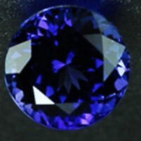 Unheated Blue Tanzanite 7.58ct 12mm Top Round Shape VVS1 COLOR LOOSE GEMSTONE
