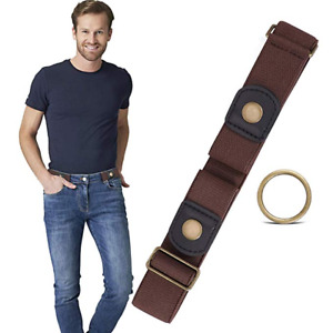 JASGOOD Buckle Free Men Elastic Stretch Belts High Quality Strap for Pants 261