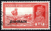BAHRAIN 1938-41 KGVI 2 Annas overprint on INDIA stamp  SG 25. SC 25. Cat £5 Used