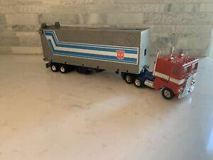 1982 G1 Transformers OPTIMUS PRIME & Trailer + Roller Good Shape