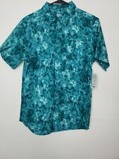 New Tags Wonder Nation Boys Button Front Shirt XL Husky 14-16 Green Floral