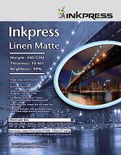 """Inkpress Linen Matte Paper 35""""x100' Roll"""