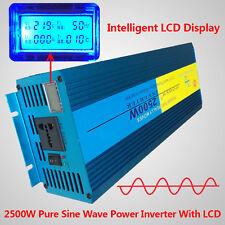 LCD DISPLAY Pure Sine Wave power inverter 2500W Peak 5000W DC 24V TO AC 220V