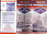 Seeing Washington DC The Gray Line Brochure 1935