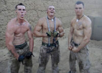 Shirtless Male Atheltic Muscle Military Men In Camo Pants PHOTO 4X6 Pinup P1251