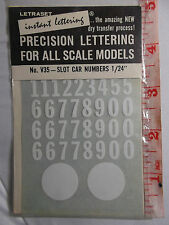 DECAL 1964 SEALED NOS LETRASET V35 1/32 SLOT CAR B & W NUMBERS DRY APPLY