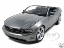 2010 FORD MUSTANG GT CONVERTIBLE GRAY 1:18 DIECAST MODEL CAR BY MAISTO 31158