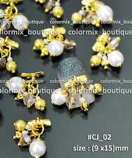Nail Tips Accessories Fashion Alloy Decoration Gold Charms Pearl Beads#CJ_02