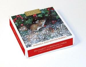 Christmas Cards - Box of 20 by Lucy Grossmith - Animals & Winter Berries