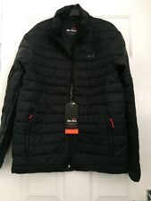Peter Storm Men's Quilted Black Jacket Size Small