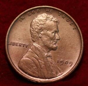 1909 VDB Red Philadelphia Mint Copper Lincoln Wheat Cent