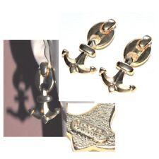 ORENA Boucles d'oreilles vintage clips couleur or ancre marine bijou earring