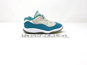Girls Nike Air Jordan XI 11 Low Aqua Safari 2014 Retro 645107-143 TD GT sz 9C