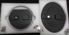 HUMMER H1 BILLET ALUMINUM BLACK LOCKING FUEL DOOR SET   **** SALE ****