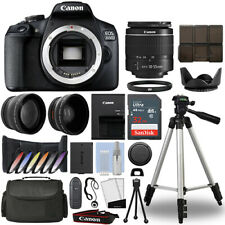 Canon EOS 2000D / Rebel T7 DSLR Camera + 18-55mm 3 Lens Kit+ 32GB Best Value Kit