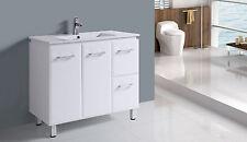 104L 900mm BATHROOM VANITY White high gloss polyurethane
