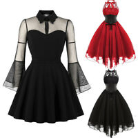 Women  Medieval Steampunk Gothic Rockabilly Retro Dress Party Cosplay Costume