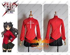 Fate Zero Stay Night Tohsaka Rin Red Shirt Skirt Cosplay Costume Custom Size