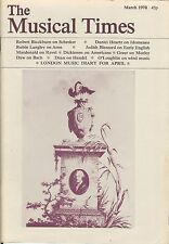 THE MUSICAL TIMES - MARCH 1978 - VOL. cxix No. 1621