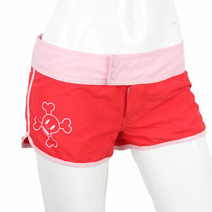 Julius & Friends Paul Frank $78 CAD Red Pink Skurvy Short Swimming Boy Shorts