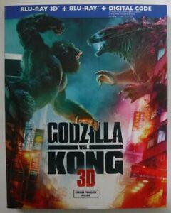 Godzilla Vs. Kong (Blu-ray 3D +Blu-ray +Digital +Slipcover, New & Sealed)