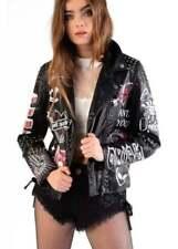 Classic Neckline Casual Punk Coats & Jackets for Women