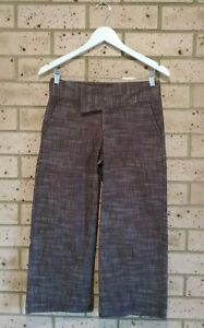 Brown 7/8 Pants, Ladies 8, Insight Brand, Comfortable Fit, Pockets