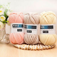 100g Soft Crochet Yarn Cloth Hand Knitting Thread Woven Bag Carpet DIY Craft